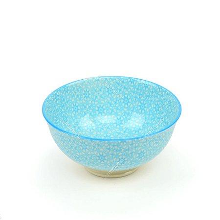Bowl de Cerâmica Pequeno Mandalas Azul Claro