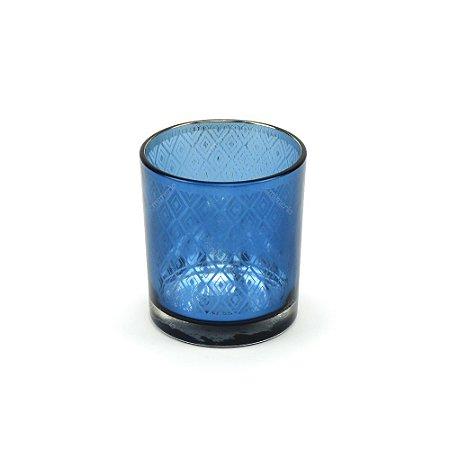 Castiçal de Vidro Bright Colors Azul Índigo