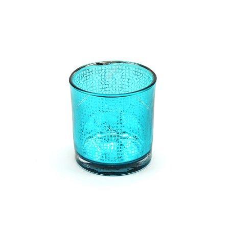 Castiçal de Vidro Bright Colors Azul