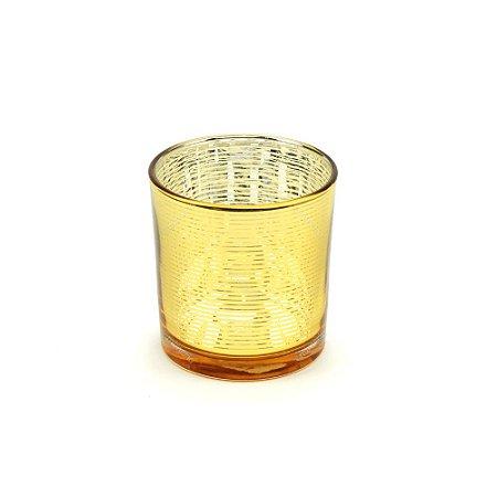 Castiçal de Vidro Bright Colors Dourado