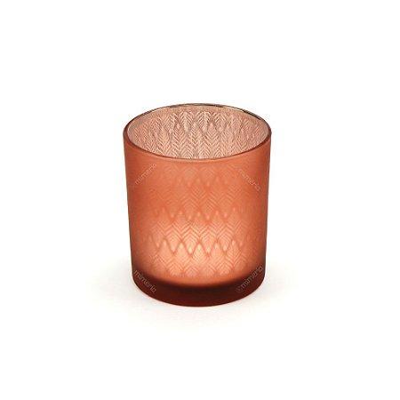 Castiçal de Vidro Mat Color Rosa