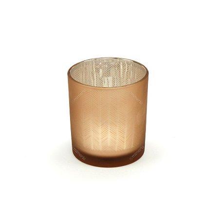 Castiçal de Vidro Mat Color Dourado