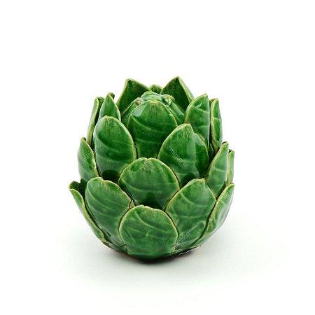 Alcachofra em Cerâmica Verde