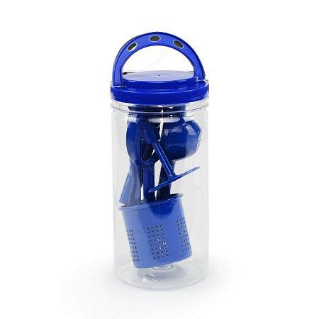 Conjunto de Espremedores Azul em Alumínio