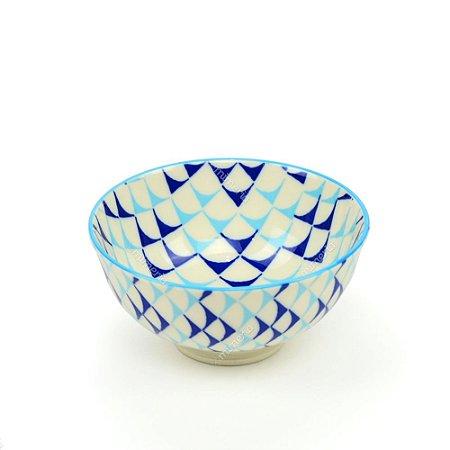 Bowl de Cerâmica Pequeno Marítimo Azul