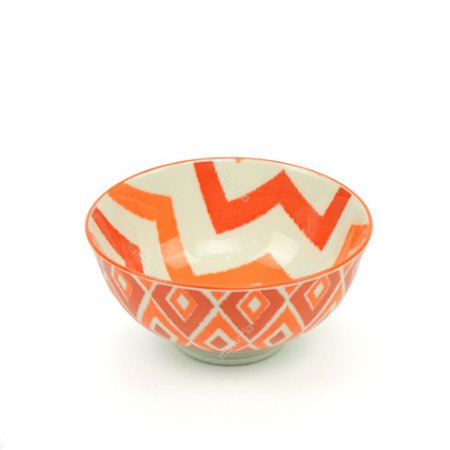 Bowl de Cerâmica Pequeno Geométrico Alaranjado