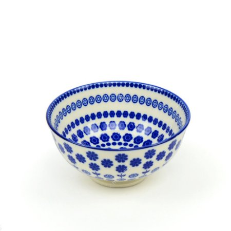 Bowl de Cerâmica Pequeno Circular Floral Azul