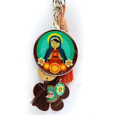 Chaveiro Sagrado Coração de Maria