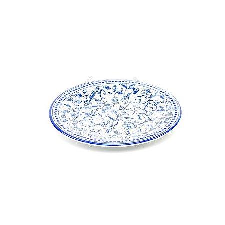 Prato de Melamina Floral Azul 20cm