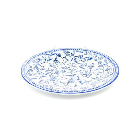 Prato de Melamina Floral Azul 27cm