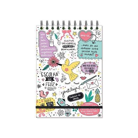 Caderno de Ideias Beija-Flor Branco