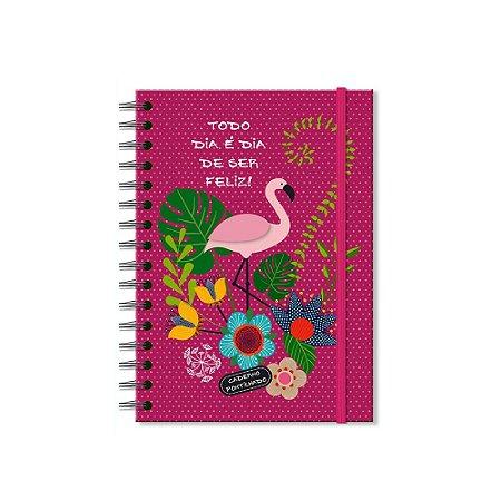 Caderno Pontilhado Flamingo