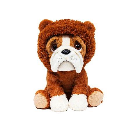 Cachorro Bulldog de Pelúcia Leãozinho