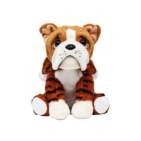 Cachorro Bulldog de Pelúcia Tigrinho