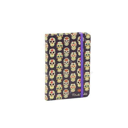 Caderneta com Elástico Frida Caveiras Mexicanas