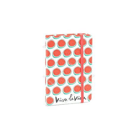 Caderneta com Elástico Frida Melancia