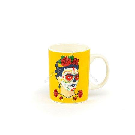 Mini Caneca Frida Kahlo Amarela