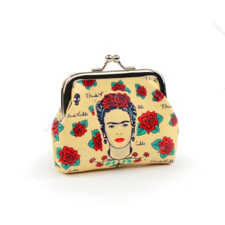 Porta Moedas Frida Kahlo Flores