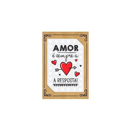 PostCard com Imã Amor é a Resposta Branco