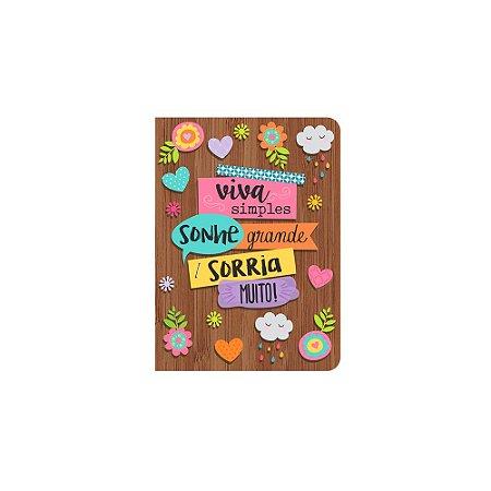 Caderneta Marrom Viva Simples Pequena