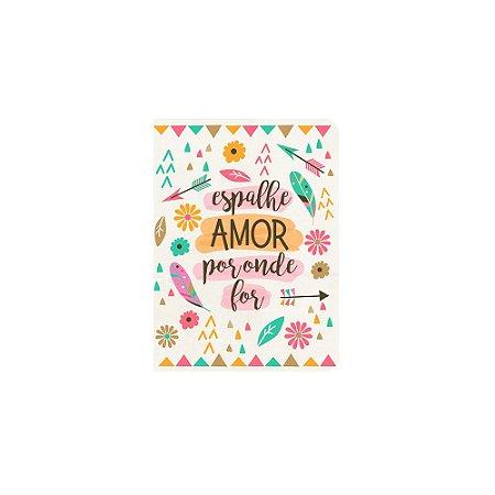 Caderneta Espalhe Amor Branca Pequena