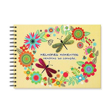 Álbum de Recordações Felicidades Libélulas