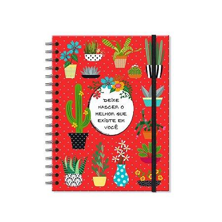 Caderno Colegial Cactos 200 folhas