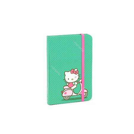 Caderneta com Elástico Hello Kitty Bike Verde