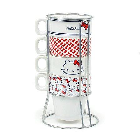 Conjunto de Xícaras de Cappuccino Hello Kitty