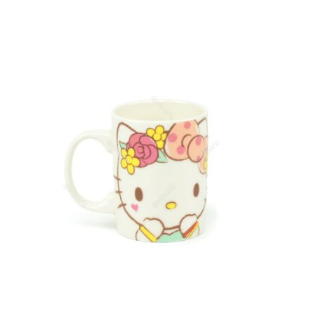 Mini Caneca de Porcelana Hello Kitty Laço Rosa