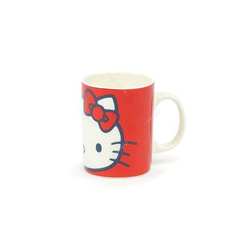 Mini Caneca de Porcelana Hello Kitty Laço Vermelho