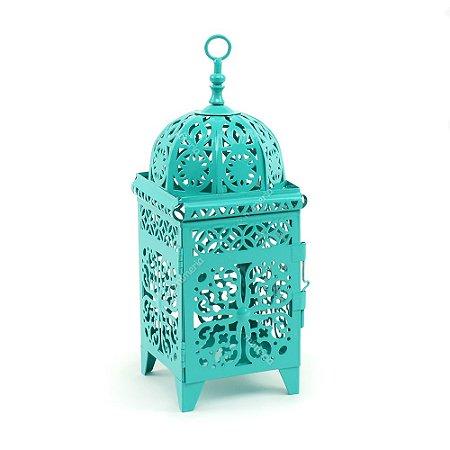 Lanterna Marroquina Quadrada Turquesa