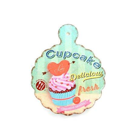 Descanso de Panela em Cerâmica Cupcake Fresh Redondo