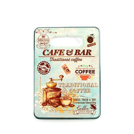 Descanso de Panela em Cerâmica Café e Bar Retangular