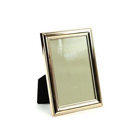 Porta Retrato Metalizado Points Rose Gold 10x15