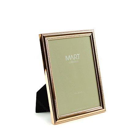 Porta Retrato Metalizado Points Rose Gold 15x20