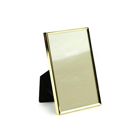 Porta Retrato Metalizado Liso Dourado 10x15