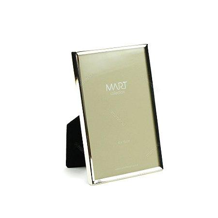 Porta Retrato Metalizado Liso Prata 10x15