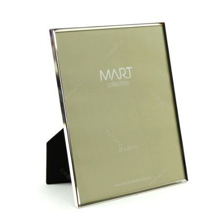 Porta Retrato Metalizado Liso Prata 20x25