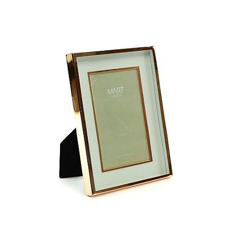 Porta Retrato Metalizado Duplo Liso Rose Gold 10x15