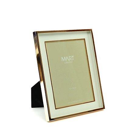 Porta Retrato Metalizado Duplo Liso Rose Gold 15x20