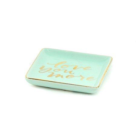 Mini Prato de Cerâmica Love You More Azul