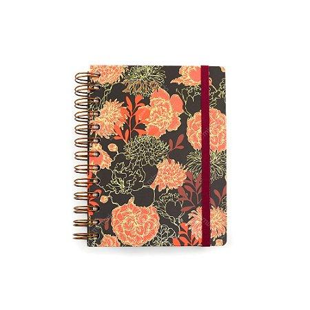 Agenda Diária Floral Vermelha 2019