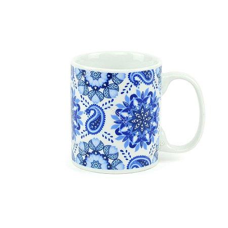 Caneca de Porcelana Henna Índigo Blue