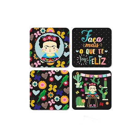 Porta Copos Magnéticos Frida Color