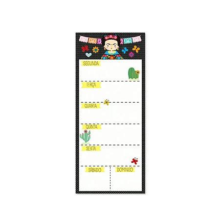 Bloco Planner Semanal Frida Color Magnético