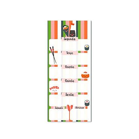 Boco Planner Semanal Sushi Magnético