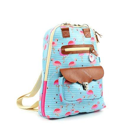 Mochila para Notebook Estampada Flamingo