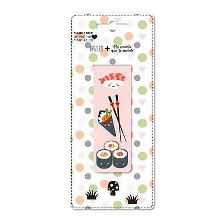 Marcador de Páginas Magnético Sushi