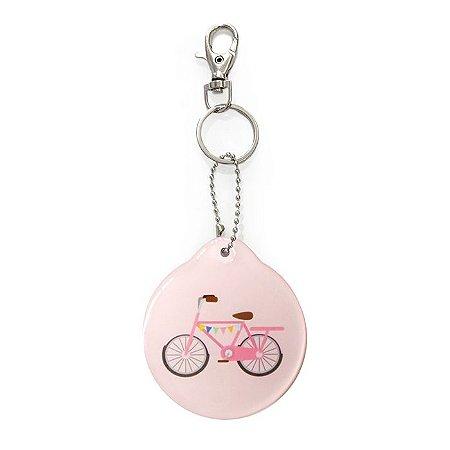 Chaveiro Redondo Decorado Bicicleta